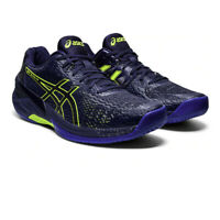 Asics Mens Sky Elite FF Indoor Court Shoes Navy Blue Sports Squash Handball