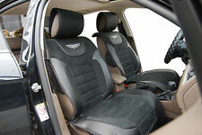Car Seat Covers Suede w Leather Cushion Low Back Bucket Seat 6802 Black