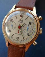Glashütte GUB Kal.64 UROFA Vintage Eleganter Sammler Herren Schaltradchronograph