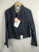 LEVIS Girls Denim Jacket ENGINEERED RAW HAND TREATED Zipper Medium NEW DN2RL