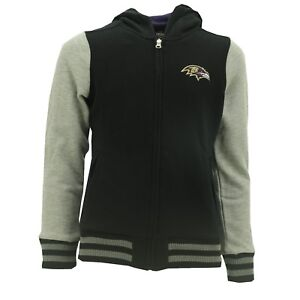 NFL Baltimore Ravens Official Girls Youth Size Sweatshirt Full Zipper New W Tags