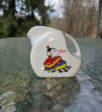 MINI DISK PITCHER creamer FIESTA DANCING LADY new FIESTA  5 OZ. white