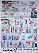 Needlenose Noonan by Walter Hoban - full tab color Sunday comic - Dec. 23, 1934