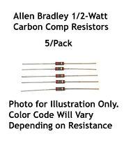 56K Ohms 1/2-Watt Allen Bradley Carbon Comp Resistors 5/Lot