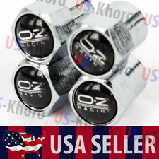 OZ Racing Logo Valves Stems Caps Covers Chromed Wheel Rims Car Tire Emblem USA