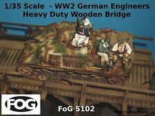1/35 échelle-la seconde guerre mondiale ingénieurs allemands lourds pont en bois