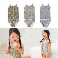 """Vaenait Baby Kids Girls Panties Undershirts + Brief """"Flower Underwear set"""" 2-7T"""