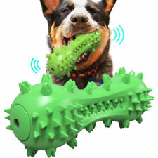 Dog Squeaky Chew Toys Toothbrush Pet Molar Dental Care Toy Durable Natural Rubbe