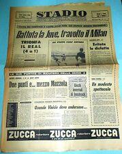 STADIO 30/1/1964 COPPE CAMPIONI  REAL MADRID MILAN 4-1 SARAGOZZA JUVENTUS 3-2