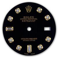 REFINED MENS 2-TONE DATEJUST BLACK 8+2 DIAMOND DIAL FOR ROLEX-36