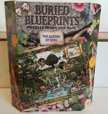Buried Blueprints by BEPUZZLED-The Garden Of Eden-1000 pc Jigsaw Puzzle-COMPLETE