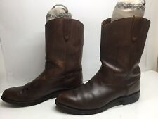 VTG MENS UNBRANDED WORK BROWN BOOTS SIZE 9.5?