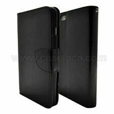 Black Flip Cover Case for Samsung Galaxy Note 4 / PU Leather Wallet & Stand