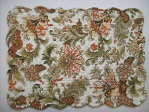Set of 2 April Cornell JOCELYN Quilted Cotton Floral Placemats