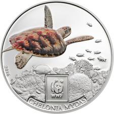 TANZANIA 2016 WWF Green Sea Turtle Schildkröte 100 shilings UNC CuNi #T