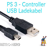 PlayStation 3 Ladekabel USB Kabel Controller Dual Shock PS3 Gamepad Stromkabel