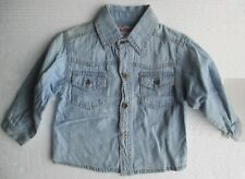 New  Baby shirt in denim with pockets, metal buttons  size 80  12-18 month