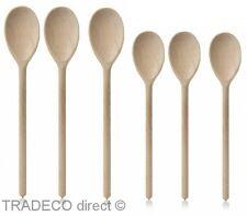"""Cucharas De Madera Pack De 6 de la madera de haya 3 x 12 """"y 3 x 10"""" Cocina Horno Cuchara Nuevo"""