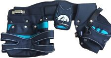 B&W SPECIAL EDITION TOOLBELT 2 POUCH HOLSTER TOOL BELT SET BLACK & BLUE