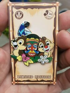Disneyland 2020 chip an  dale Tiki Room Passholder Pin