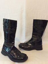 Girls Studio Bimbi Black Leather Boots Size 33