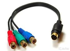 7 PIN S-Video Male to 3-RCA Female Composite AV Cable