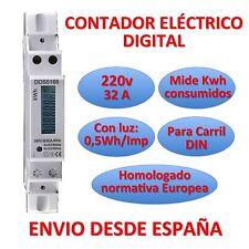 Contador de luz Eléctrico Digital Medidor de energia LCD Carril DIN Energy Meter