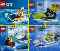 LEGO City 30015, 30017, 30227, 30363 - Jet Skiers, Police Watercraft, Speedboat