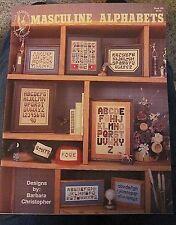 Masculine Alphabets for Men Cross Stitch Alphabet Charts 7 Different Designs NEW