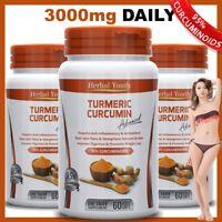 TURMERIC CURCUMIN BOTTLES 95% CURCUMINOID LONGA LINN TUMERIC PILLS ANTIOXIDANT