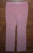 BURBERRY LONDON femme rose blanc lignes Pantalon