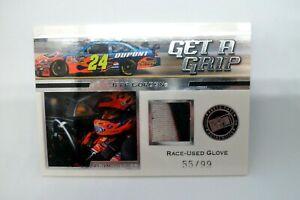 Jeff Gordon 2008 Press Pass VIP Get A Grip Race Used Glove 55 / 99 GGT2