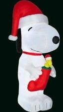 NEW 10 FT TALL GEMMY CHRISTMAS PEANUTS SNOOPY WOODSTOCK RED STOCKING INFLATABLE