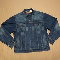 Men's Vintage Levi's Easy Rider Denim Trucker Jacket with Snap Buttons Size L