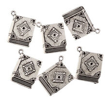 5pcs Tibetan Silver Book School Charms Pendant fit Bracelet making 23*18mm