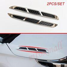 2pcs Universal Car Body Shark Gills Air Vent Flow Inlet Decoration Accessories