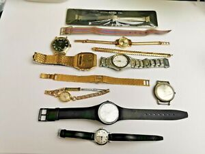 Job Lot of Vintage Watches, Mix of Quartz / Mechanical Watches for Spares
