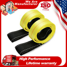 2pcs 6ft X2in Web Lifting Sling Straps With Heavy Duty Flat Loops 10000lbs Nylon