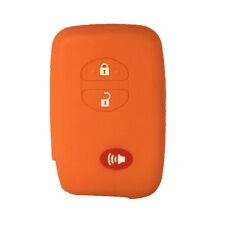 3 Buttons Orange Silicone Key Fob Case Cover Holder Skin Case fit for Toyota