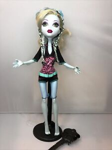 Monster High 1st Wave Doll Lagoona Blue with Doll Stand & Brush