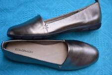 COLORADO PEWTER Slip On Leather  Shoes Size 10 NEW rrp$119.99 SAM DESIGN. Flat.