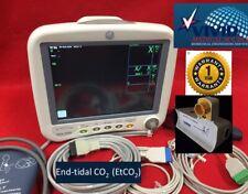 GE Patient Monitor Dash 4000 EtCO2 ECG NIBP SPO2 Capnoflex. 1Yr Warraty Recorder