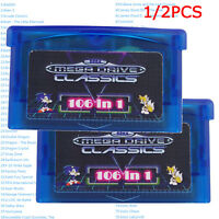 1/2pcs GBA SMS 106 in 1 Games Cartridge for Sega Master System Game Boy Advance
