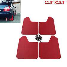 4Pcs Red 11.5''X15.1''Car Truck SUV Mud Flaps Splash Guards Mudflaps Fender