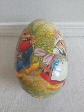 Vintage German Paper Mache Easter Egg Candy Holder Bunny Set of three