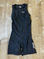 Zoot Womens Performance Triathlon Tri Racesuit Large L Black White Sleeveless