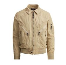 Polo Ralph Lauren Water Repellent Bomber Jacket Khaki Coat Mens Size Large NWT