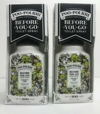2x POO-POURRI Toilet Spray Coconut Lime 2 fl oz Lot Of 2 Limited Edition Scent