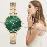 NWT 🌲 Lola Rose LONDON LR4006 Good Fortune Green Malachite Dial Gold Tone Watch