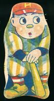 1930-40's Menko Nankai Railroad Baseball Vintage Japanese Card Diecut Drawing